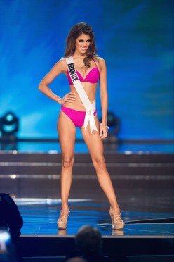 Iris Mittenaere, Miss France 2016 competes on stage in Yamamay swimwear featuring footwear by Chinese Laundry during the 65th MISS UNIVERSE® Preliminary Competition at the Mall of Asia Arena on Thursday, January 26, 2017. The contestants have been touring, filming, rehearsing and preparing to compete for the Miss Universe crown in the Philippines. Tune in to the FOX telecast at 7:00 PM ET live/PT tape-delayed on Sunday, January 29, live from the Philippines to see who will become Miss Universe. HO/The Miss Universe Organization