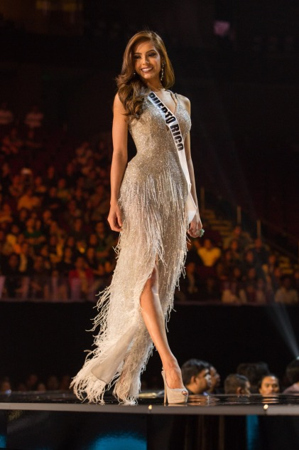 Brenda Jimenez, Miss Puerto Rico 2016 competes on stage in her evening gown during the 65th MISS UNIVERSE® Preliminary Competition at the Mall of Asia Arena on Thursday, January 25, 2017. The contestants have been touring, filming, rehearsing and preparing to compete for the Miss Universe crown in the Philippines. Tune in to the FOX telecast at 7:00 PM ET live/PT tape-delayed on Sunday, January 29, live from the Philippines to see who will become Miss Universe. HO/The Miss Universe Organization