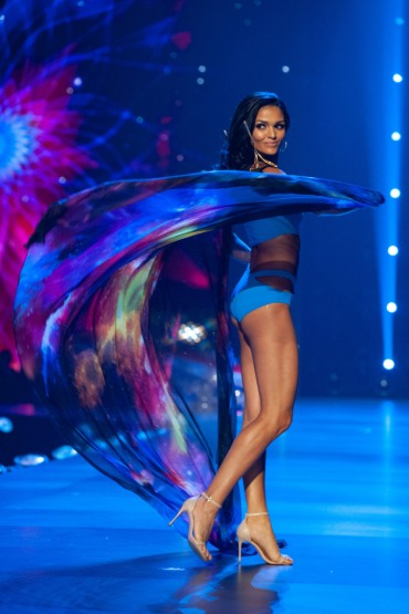 Kiara Ortega, Miss Puerto Rico 2018 competes on stage as a Top 10 finalist in swimwear by Sirivannavari Bangkok during The MISS UNIVERSE® Competition airing on FOX at 7:00 PM ET live/PT tape-delayed on Sunday, December 16, 2018 from the IMPACT Arena in Bangkok, Thailand. Contestants from around the globe have spent the last few weeks touring, filming, rehearsing and preparing to compete for the Miss Universe crown. HO/The Miss Universe Organization
